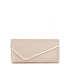 Quiz - Gold Glitter Diagonal Envelope Bag