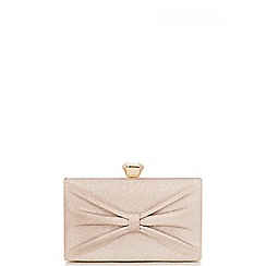 Quiz - Gold Bow Box Bag