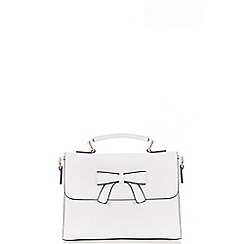 Quiz - White Bow Satchel Bag