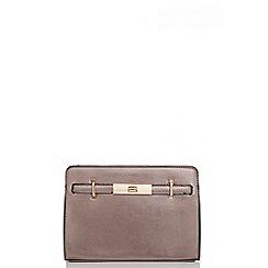 Quiz - Copper Metallic Satchel Bag
