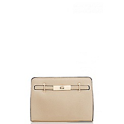 Quiz - Gold Metallic Satchel Bag