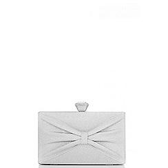 Quiz - Silver Bow Box Bag