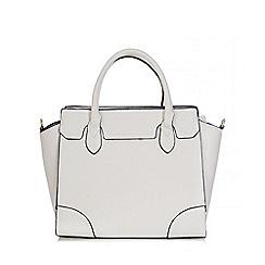 Quiz - White PU Satchel Shopper Bag