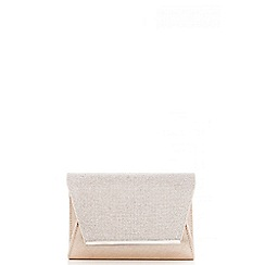 Quiz - Gold Shimmer Diamante Envelope Bag