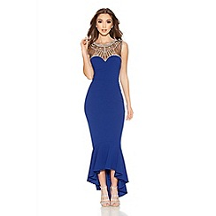 Quiz - Royal Blue Sweetheart Embellished Fishtail Dress