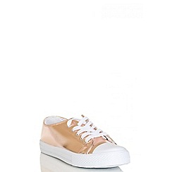 Quiz - Rose Gold Metallic PU Trainer