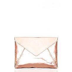 Quiz - Rose Metallic Large Envelope Bag