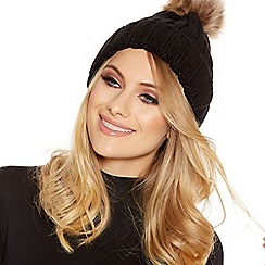 Quiz - Black Pom Knit Hat