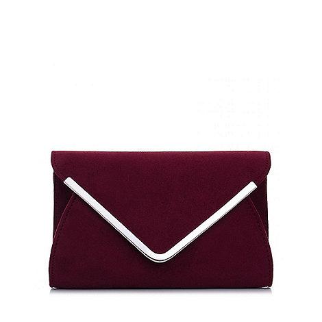 Quiz - Wine Faux Suede Envelope Bag