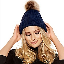 Quiz - Navy Pom Knit Hat