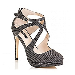 Quiz - Grey Shimmer Swirl Toe Sandals