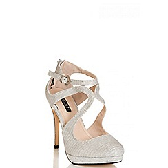 Quiz - Silver Shimmer Swirl Toe Sandals