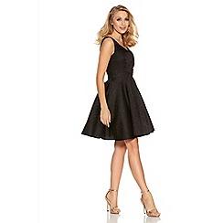 Quiz - Black Jacquard Sweetheart Dress
