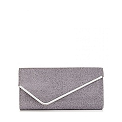 Quiz - Grey Shimmer Diagonal Envelope Bag