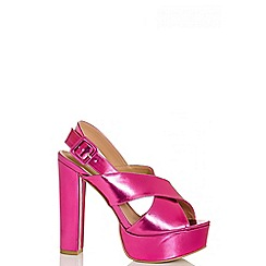 Quiz - Pink Metallic High Heel Sandals