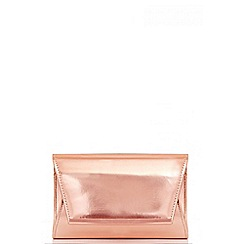 Quiz - Rose Gold Metallic Envelope Bag