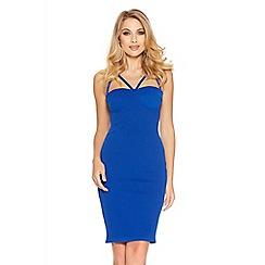 Quiz - Royal Blue Cup Bodycon Strap Dress