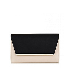 Quiz - Nude And Black Large Envelope Bag