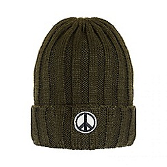 Quiz - Khaki Slogan Knitted Hat
