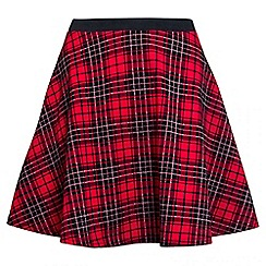 Quiz - Red And Black Check Skirt