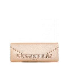 Quiz - Rose Gold Jewel Band Envelope Clutch Bag