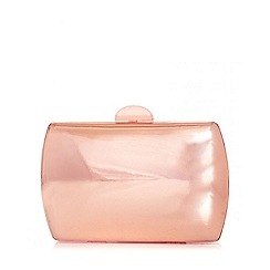Quiz - Rose Gold Metallic Box Bag