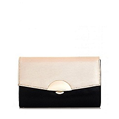 Quiz - Gold Contrast Shimmer Bag
