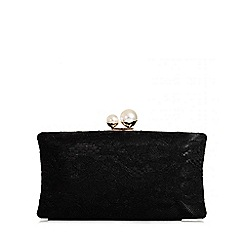 Quiz - Black Lace Box Bag
