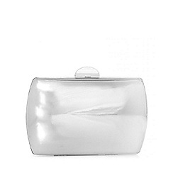 Quiz - Silver Metallic Box Bag