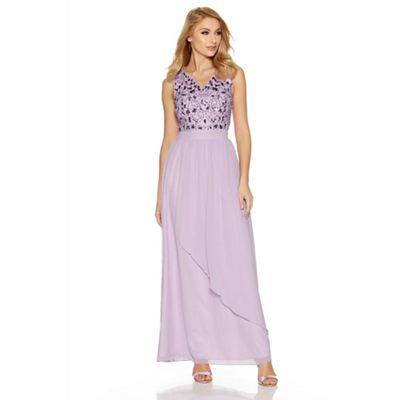 Lilac Lace Fishtail Maxi Dress - 10 / PURPLE I Saw It First Original Cheap Sale Latest Kn5plhzly