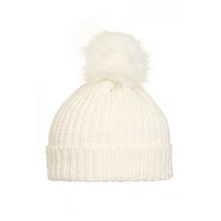 Quiz - Cream Pom Knitted Hat