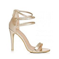 Quiz - Gold Multi Strap Heels