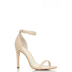 Quiz - Nude PU Barely There Heels