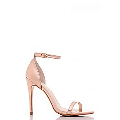 Quiz - Rose Gold Metallic Barely There Heels