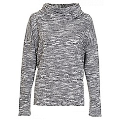 Quiz - Grey light knitted roll neck top