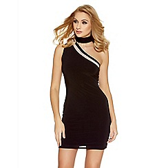 Quiz - Black one shoulder turtle neck bodycon dress