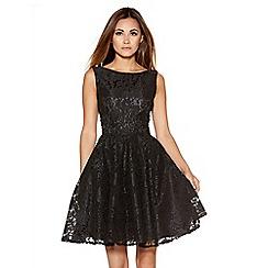Quiz - Black lace high neck dress