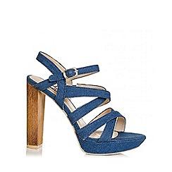 Quiz - Denim strap platform sandals