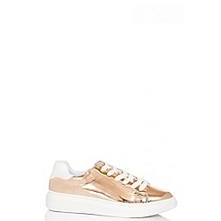 Quiz - Rose metallic lace trainers