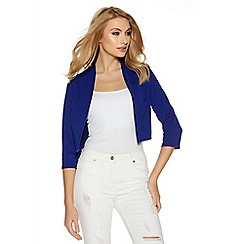 Quiz - Blue cropped 3/4 sleeve jacket
