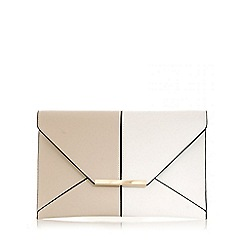 Quiz - White and nude envelope bag