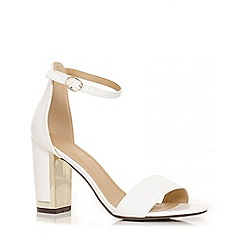 Quiz - White faux leather barely there sandals