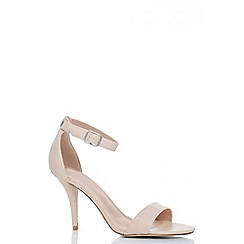 Quiz - Nude polyurethane barely there sandals