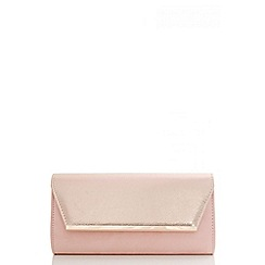 Quiz - Pink faux suede shimmer flap bag