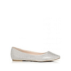 Quiz - Silver diamante pumps