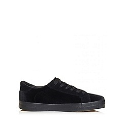 Quiz - Black velvet trainers
