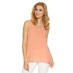 Quiz - Coral chiffon swing vest top