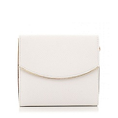 Quiz - White pu textured box bag