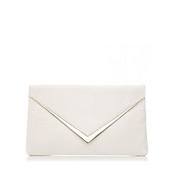 Quiz - White pu gold trim envelope bag