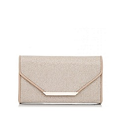 Quiz - Gold shimmer and pu box bag